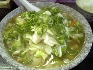立食い生麺の和風野菜ラーメン