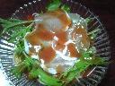 生ハムと水菜の冷製パスタ